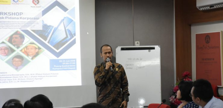 "Workshop ""Tindak Pidana Korporasi"""
