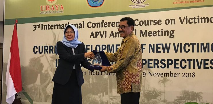 "Prof. Fachri Bey, Ph.D. menjadi narasumber  ""International Conference and Course on Victimology 2018"""