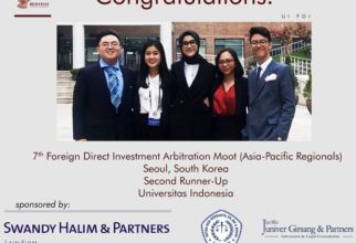 Second Runner-Up in 7th Foreign Direct Investment Arbitration Moot